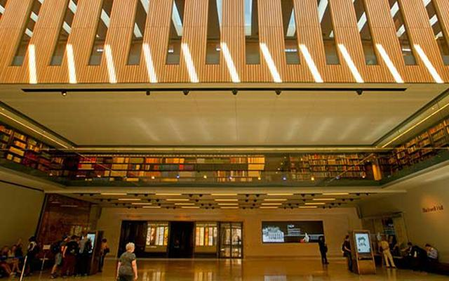 Interior view of Blackwell Hall in the Weston Library
