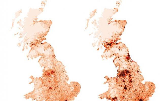 Map about migration in the British Idles from the Museum of Natural History's 'Settlers' exhibition
