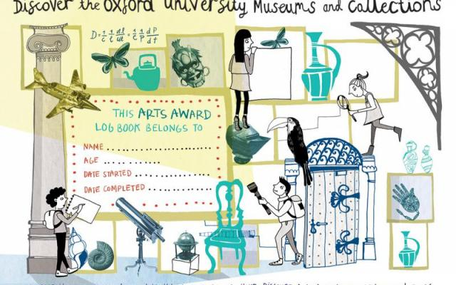 Discover the Oxford University Museums and Collection Arts Award logbook cover
