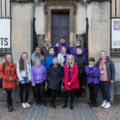 Students outside the History of Science Museum