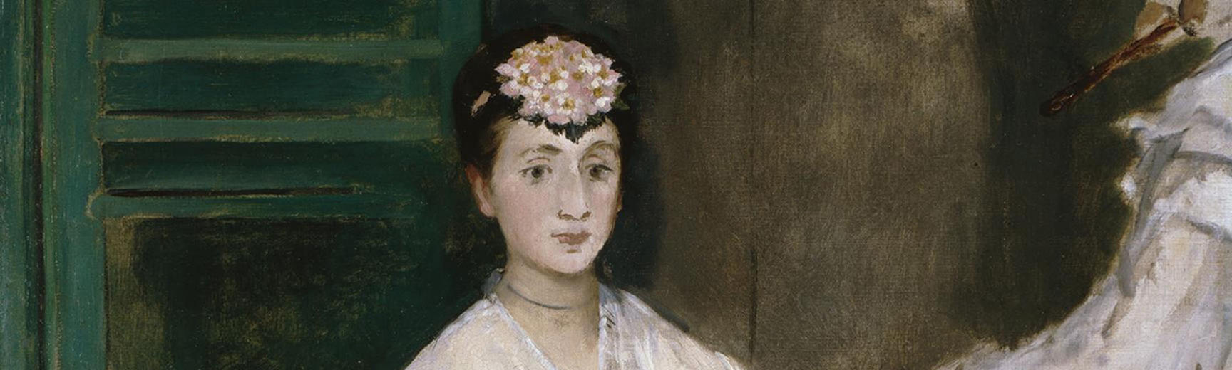 Detail from Manet's Portrait of Mademoiselle Claus