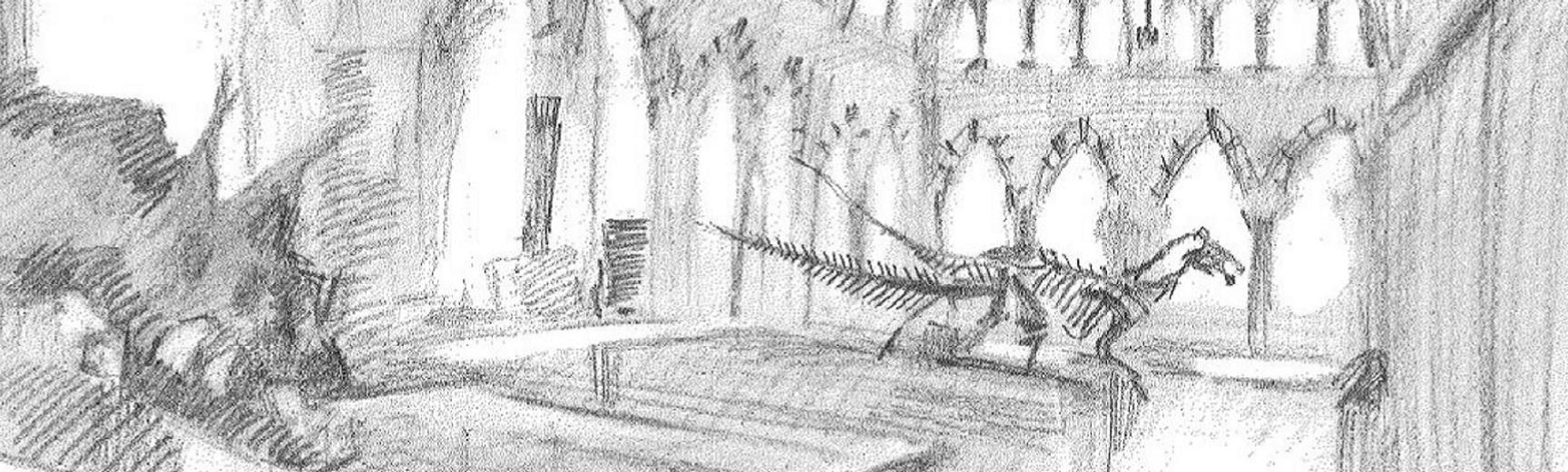 Drawing of the Oxford University Museum of Natural History