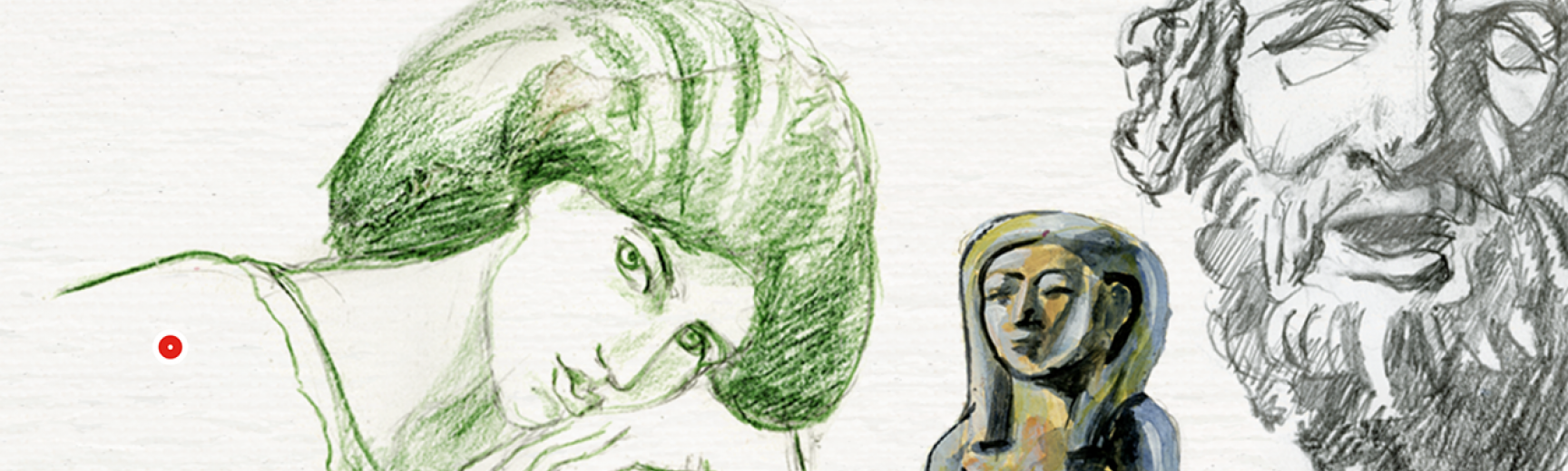 Sketchbook at the Ashmolean Museum