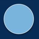 Light blue circle on dark blue background