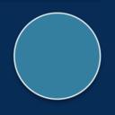 Blue circle on a darker blue background
