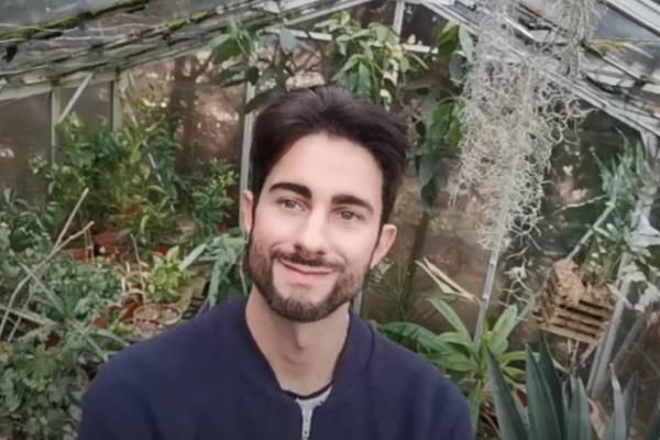 Botanic Garden staff member in greenhouse