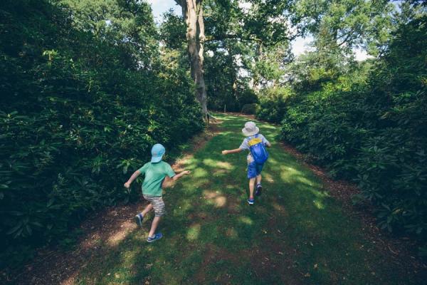 Children playing at harcourt arboretum