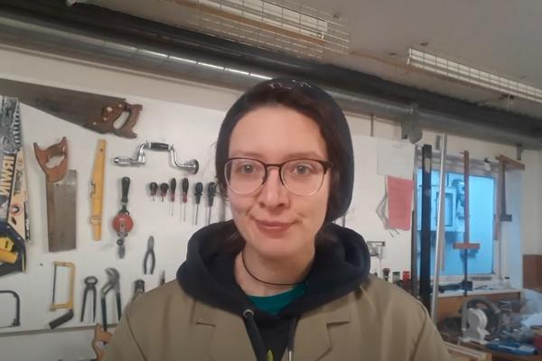 Young woman in a workshop