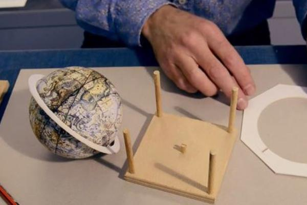 Still from a video on how to make your own globe