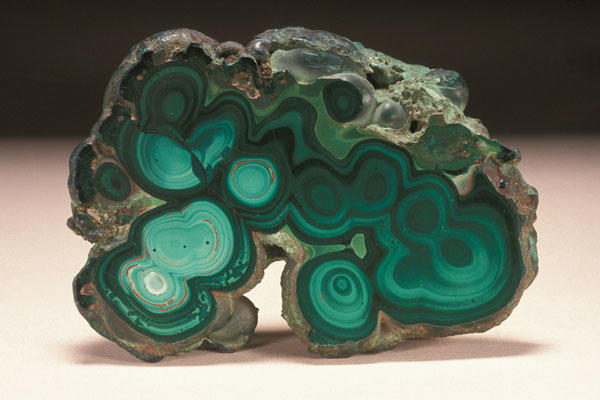 Malachite (botryoidal, polished) from the Museum of Natural History