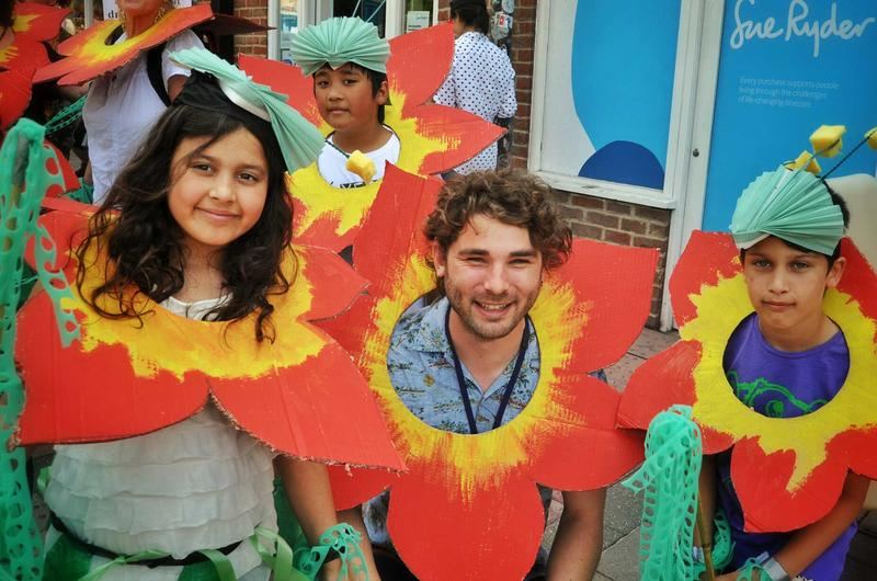 Family activity with the Botanic Garden at Cowley Road Carnival