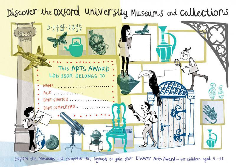 Front cover of Discover the Oxford University Museums and Collection Arts Award logbook