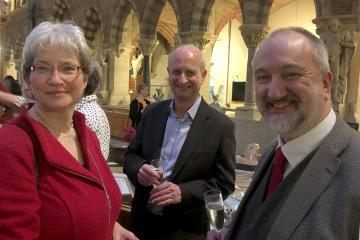Silke Ackermann, Iain Standen and Steven Parissien during OCL 2017