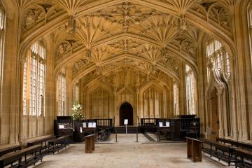 Interior view of the Divinity School, Bodleian Library