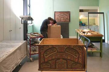 Haida artists working in the Pitt Rivers Museum