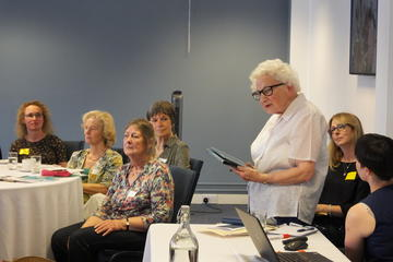 Jean speaking at a workshop on social prescribing, 10 July 2019