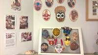 Display of masks created by participants in the Stoke Mandeville project