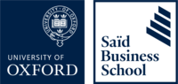 Blue and white Saïd Business School logo